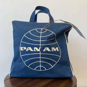 Handbags - Vintage Pan Am Travel Bag Blue with white logo